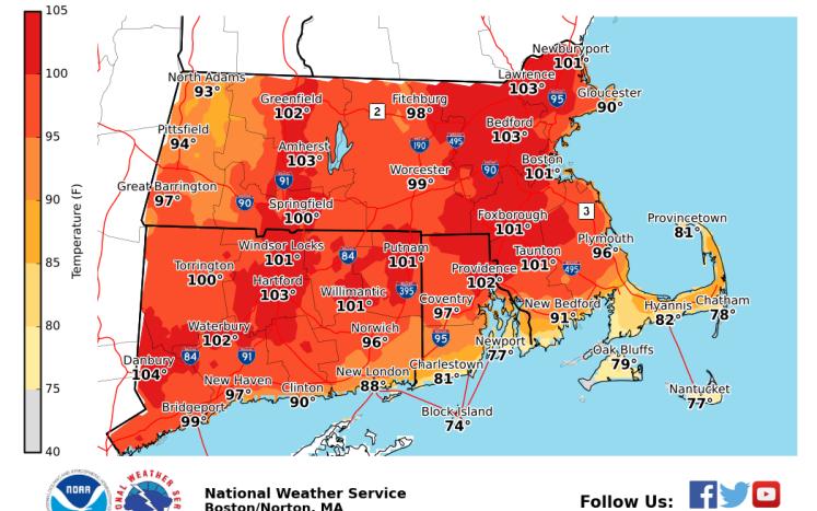 Heat Advisory Map